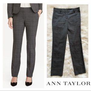 Ann Taylor Signature Plaid Straight Dress Pants